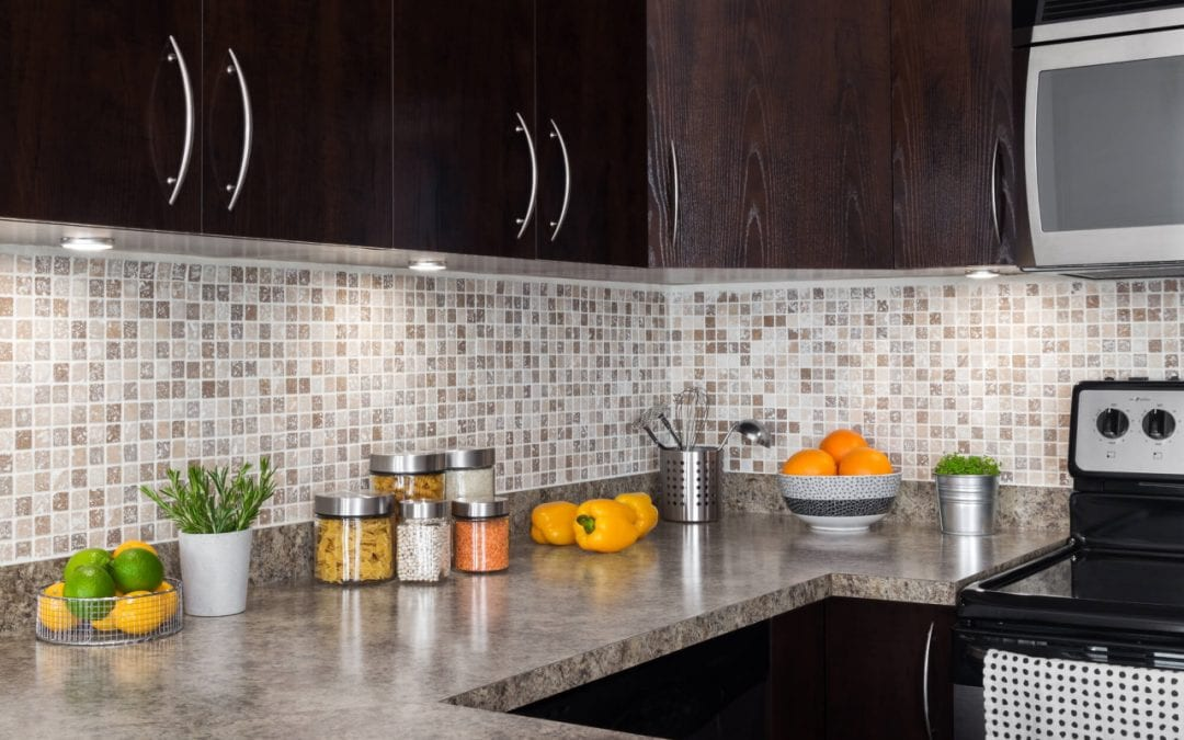 easy home renovations include installing a kitchen backsplash