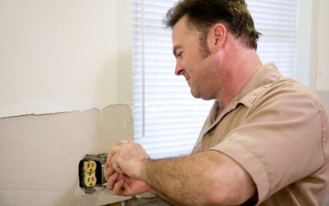 Call an electrician when you notice signs of an electrical problem